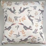"16"" Cushion Cover in Cream Woodland Animals"